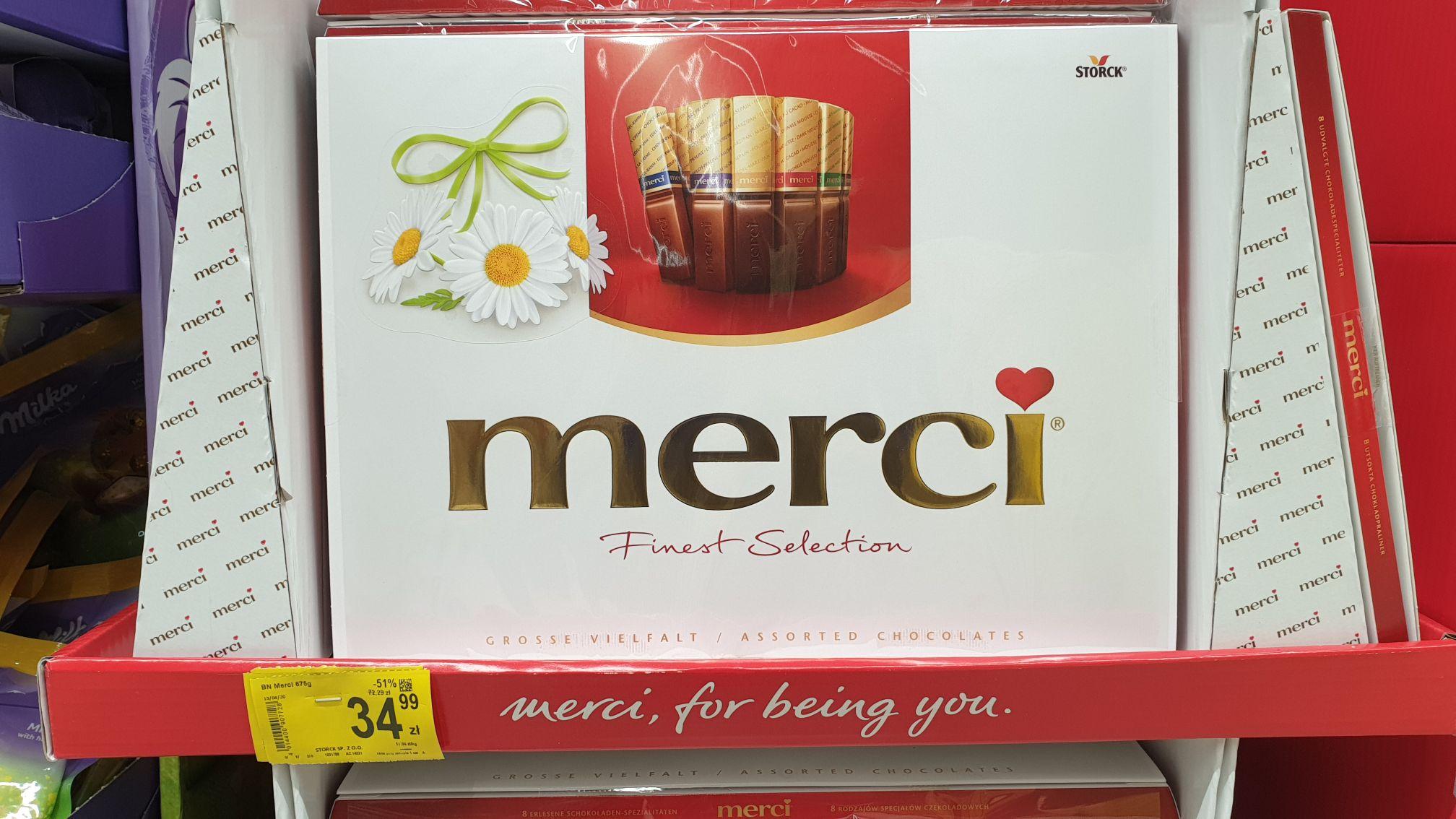 Bombonierka Merci 675g @ Carrefour
