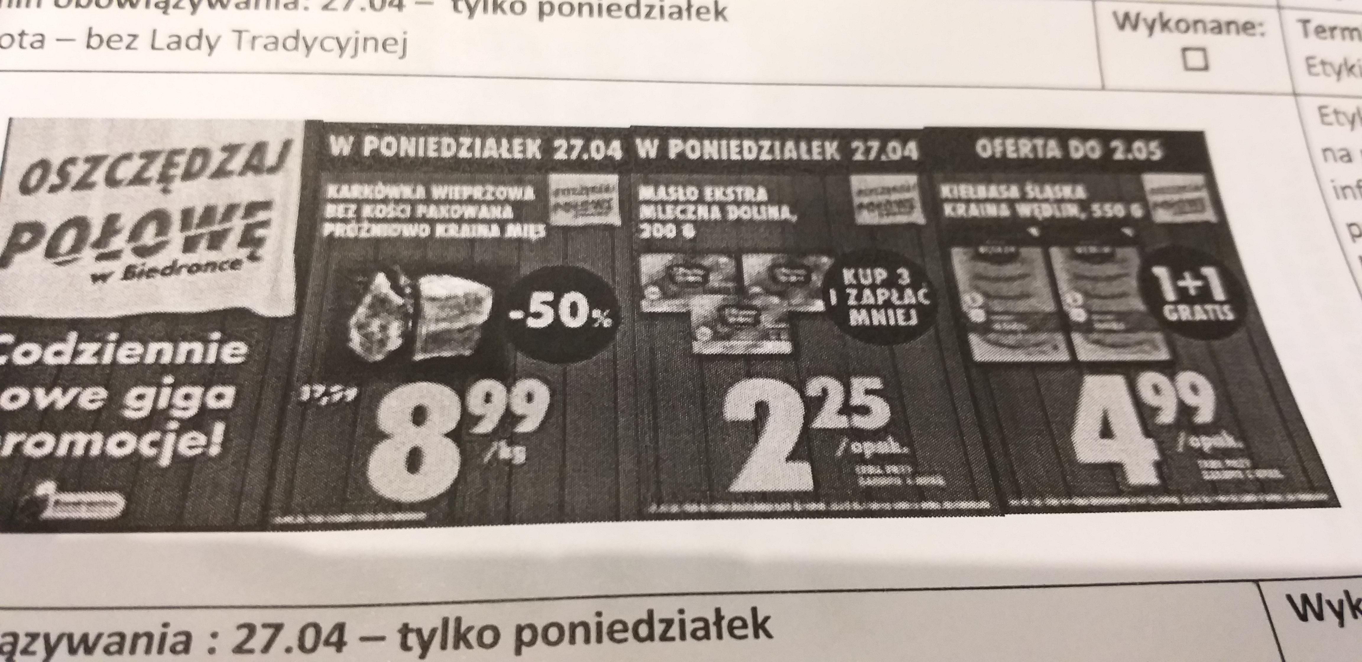 Promocje Biedronka od 27.04
