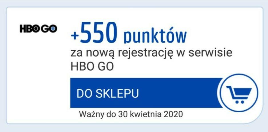 Payback +550 pkt za rejestrację w HBO GO