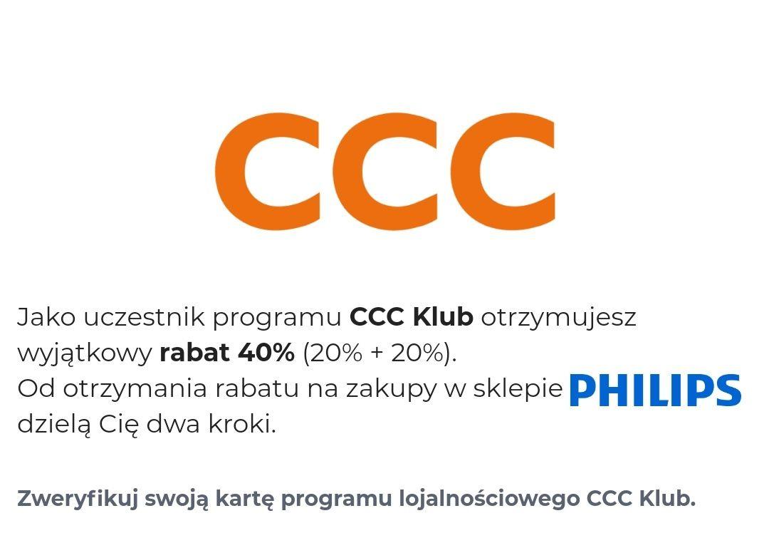 Voucher na 40% na produkty Philips dla klientów CCC