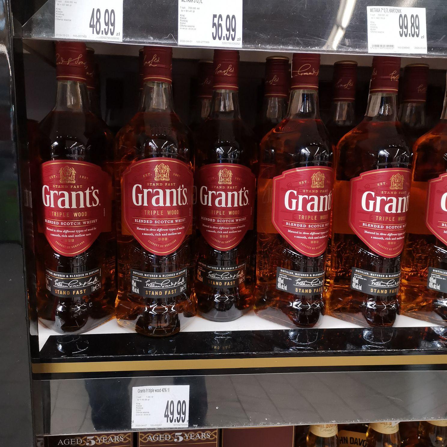 Whisky Grant's 1 litr E. Leclerc Kołobrzeg