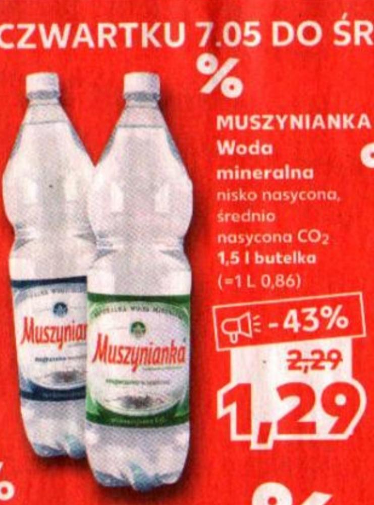 Woda mineralna Muszynianka 1.5 L@ Kaufland 07.05-13.05