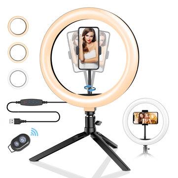 BlitzWolf® BW-SL3 Stojak / statyw biurkowy na telefon, z lampą LED