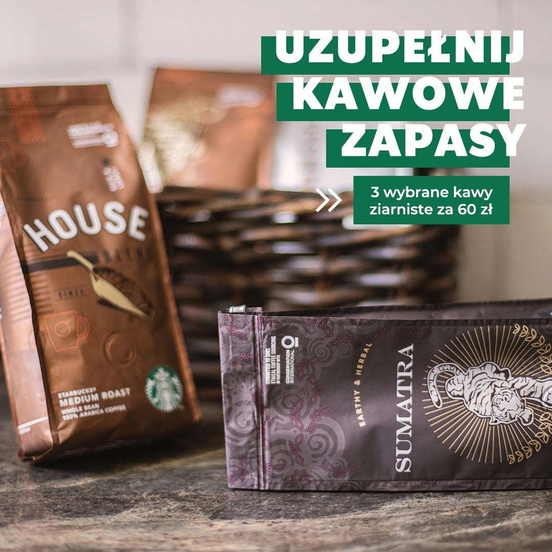 3 paczki kawy Starbucks w promocyjnej cenie