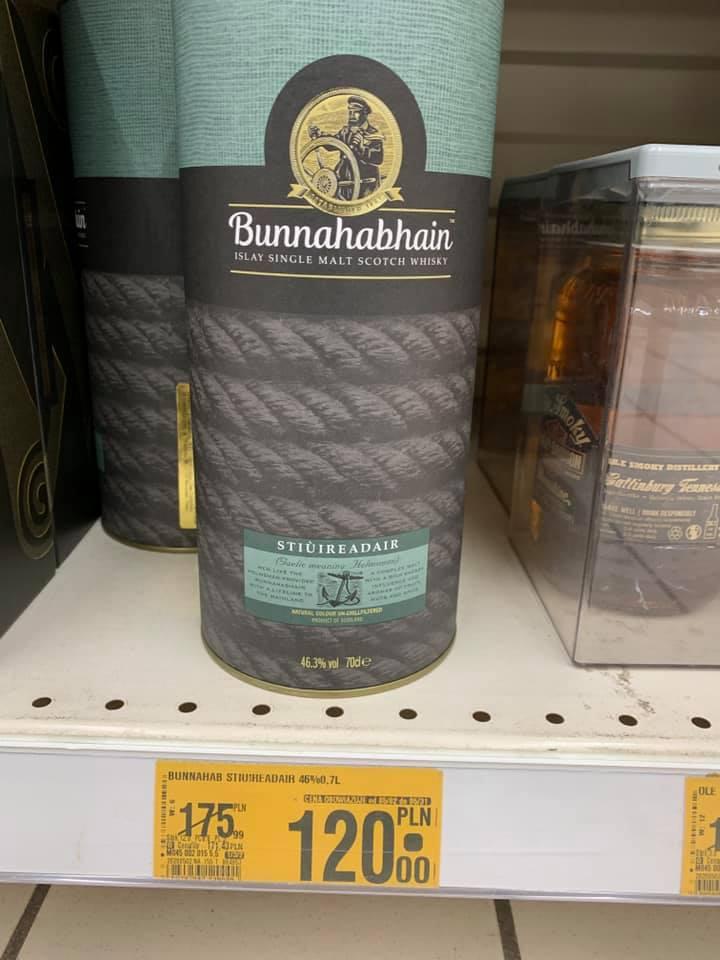 Whisky bunnahabhain stiuireadair oraz Brandy Torres 15 YO + 2 szklanki za 85 zł Auchan Janki