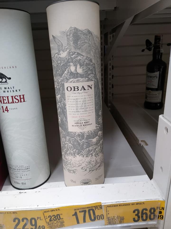 Whisky Oban 14 YO + Glen Scotia campbeltown harbour 120 zł Auchan Modlińska