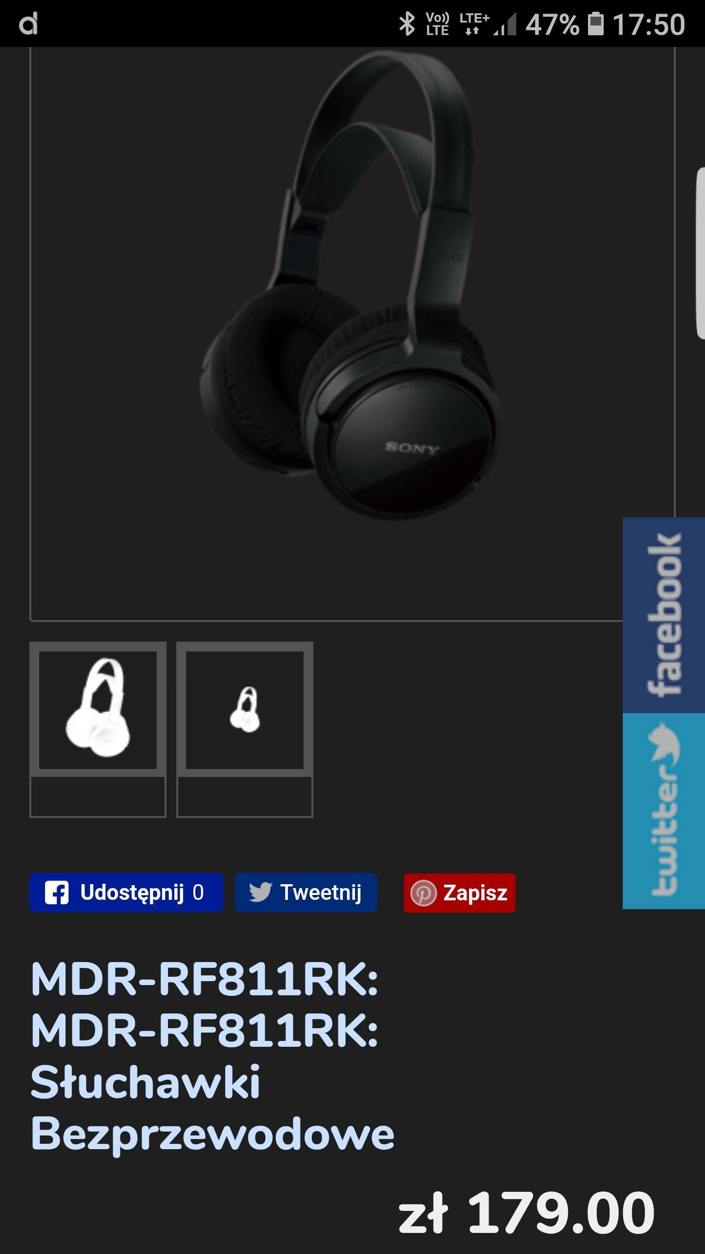 Słuchawki Sony MDR-RF811RK