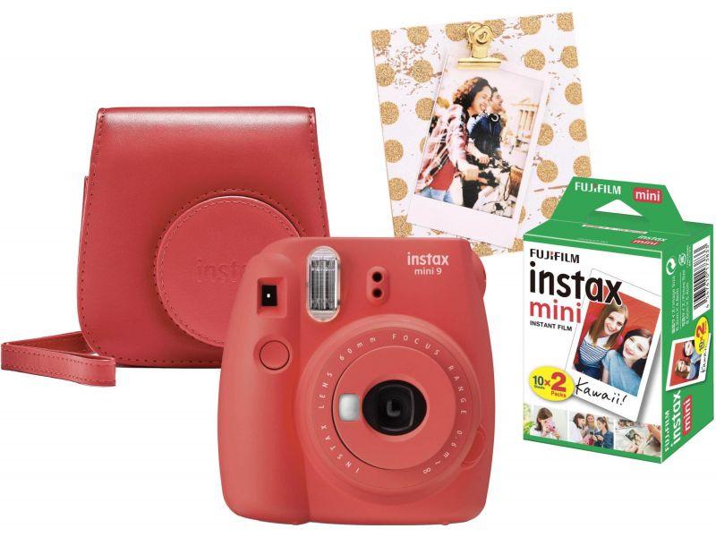 Fujifilm Instax Mini 9 czerwony wkład 2x10+Etui+Ramka