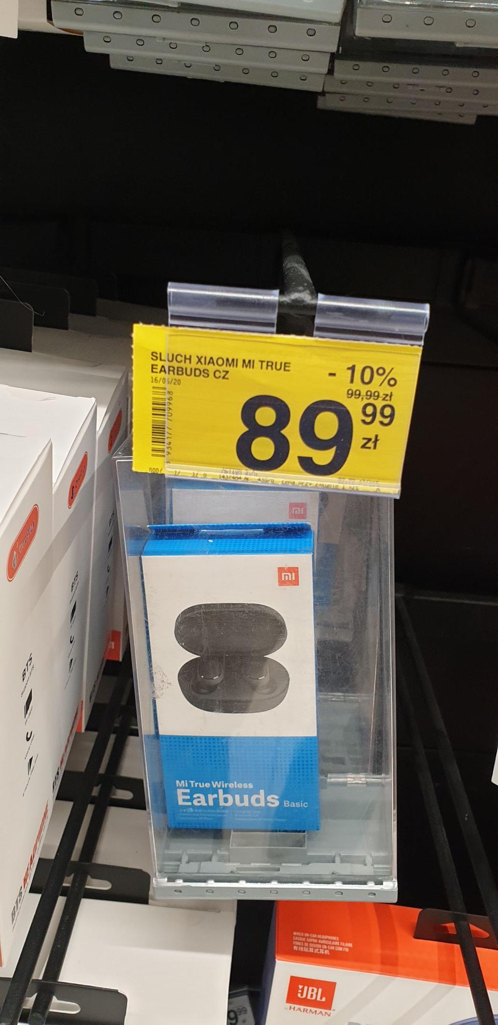 Xiaomi Mi True Earbuds czarne Carrefour Zielone Wzgórza Białystok