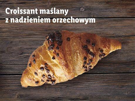 Croissant maślany z nadzieniem orzechowym @Lidl