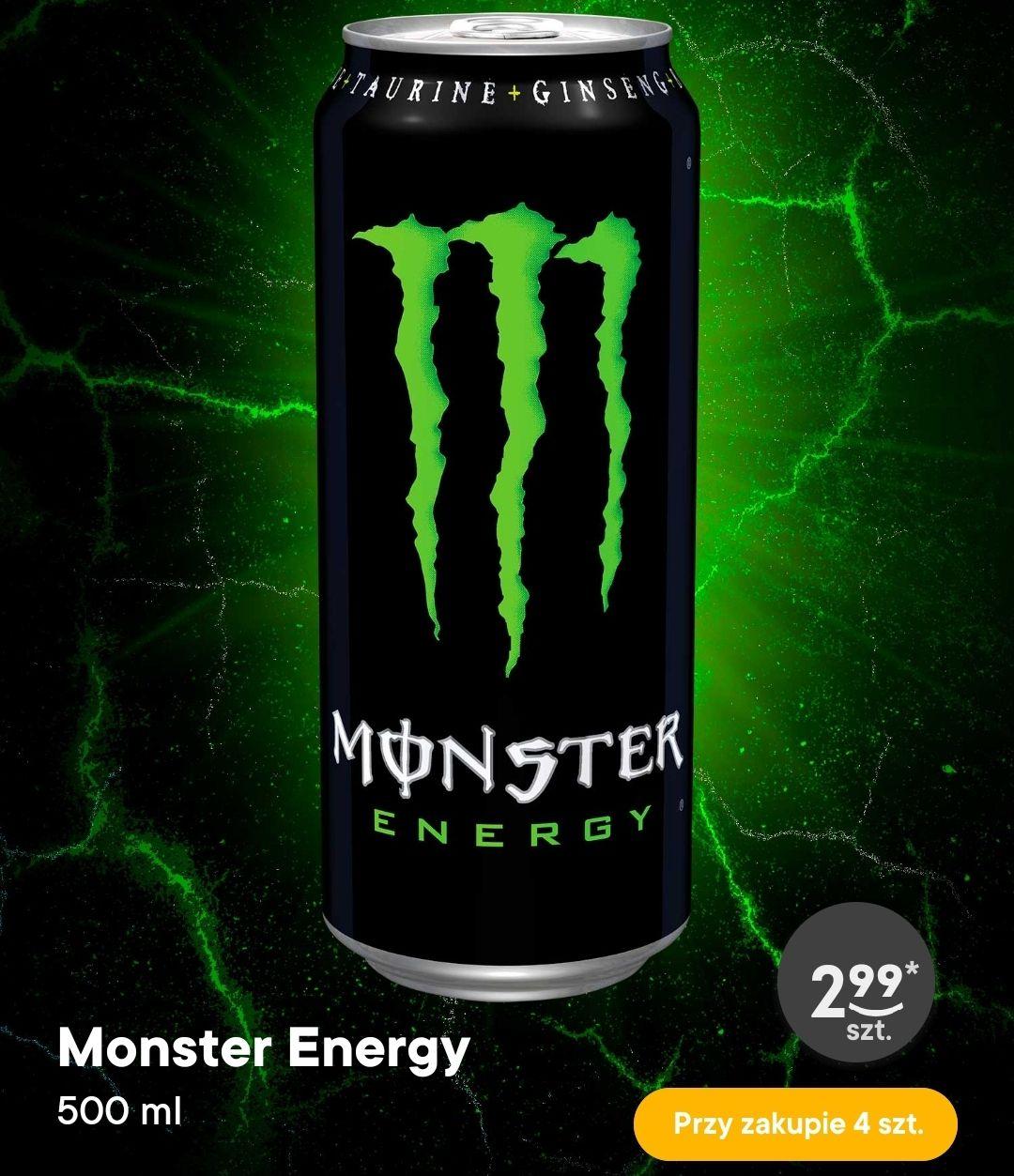 Monster Energy za 2.99zł przy zakupie 4 sztuk - Żabka