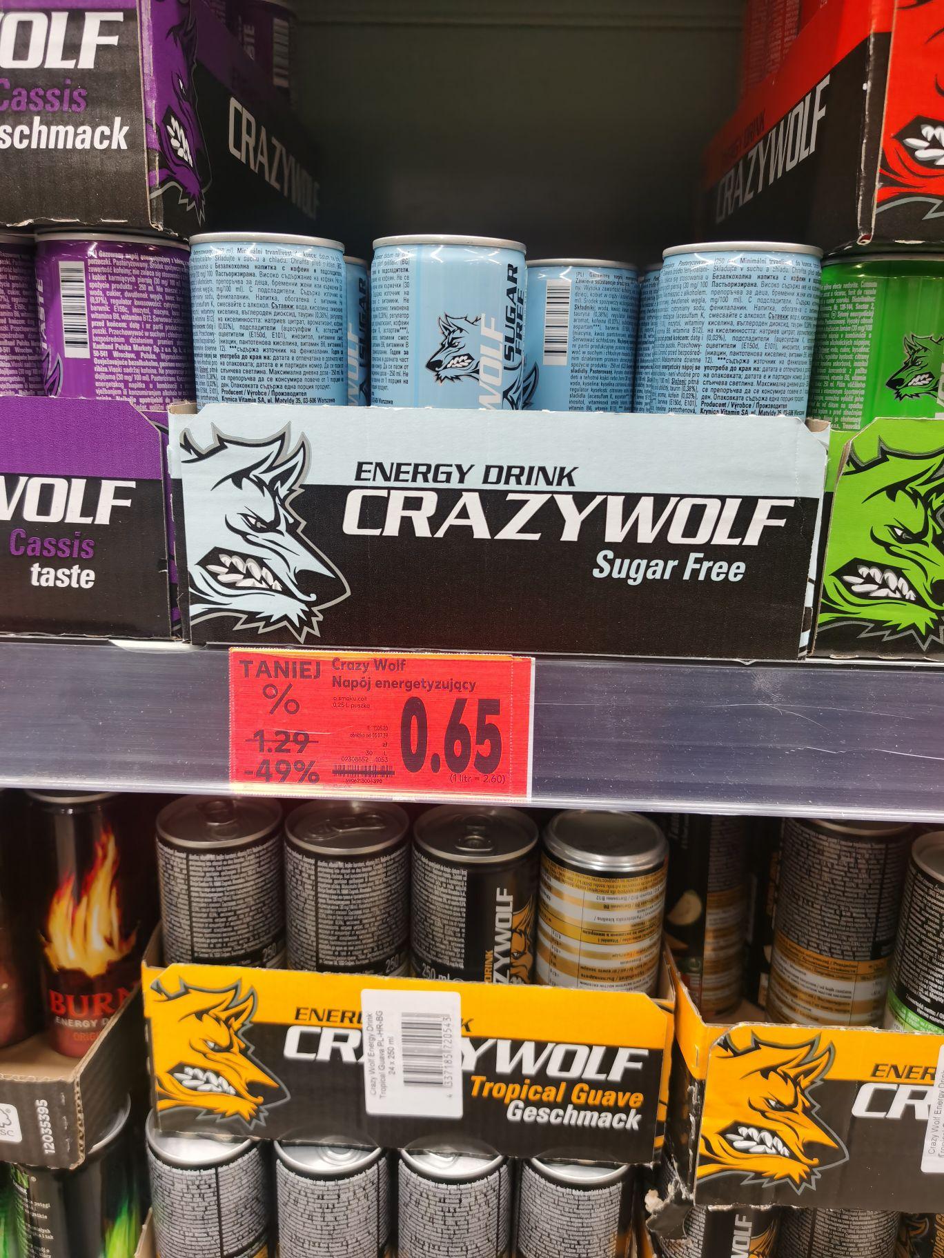 Crazy Wolf. Napój energetyzujacy. Kaufland