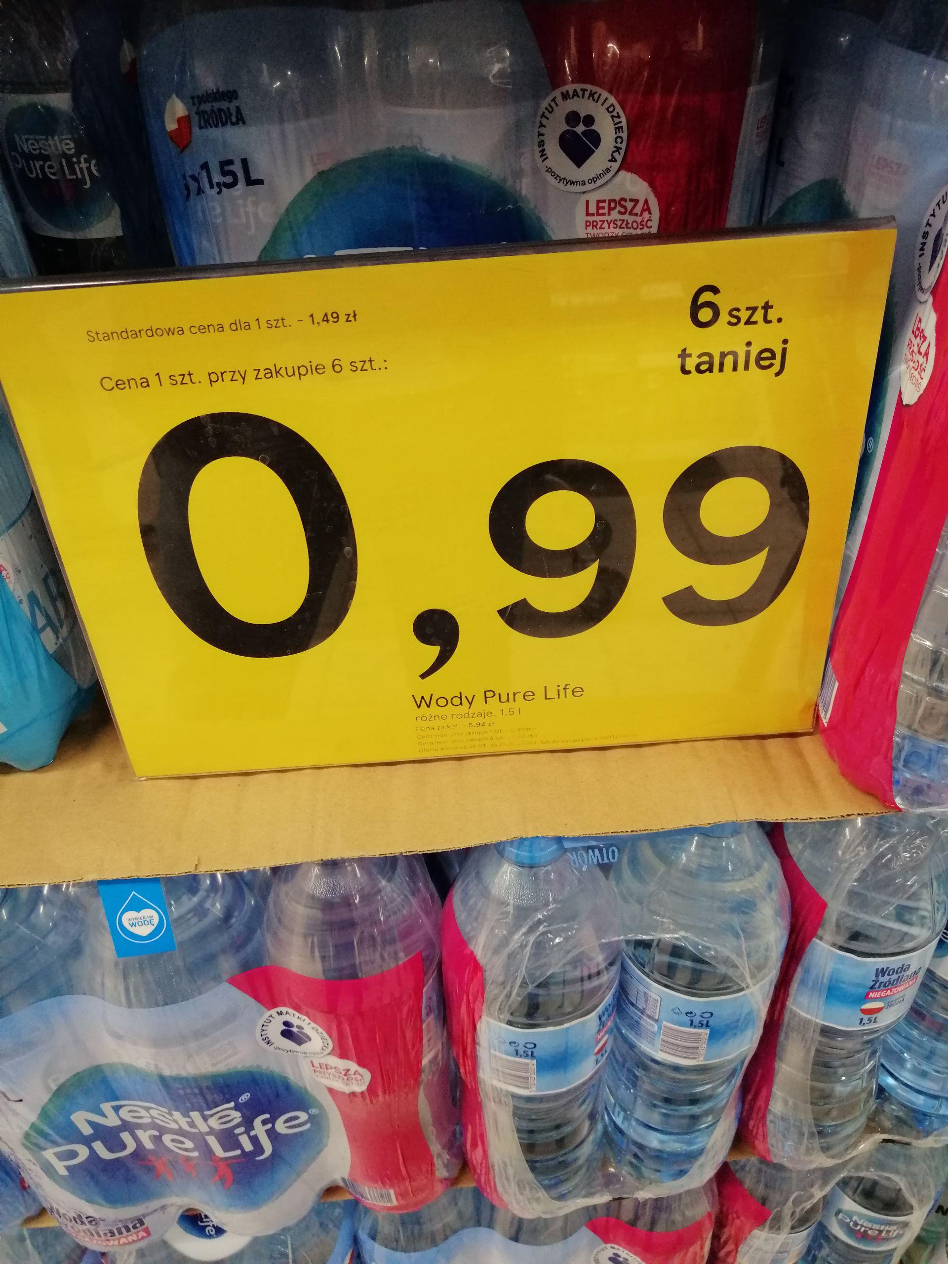 Woda Nestle Pure Life 0,99zł/szt przy zakupie 6 butelek Tesco Chełm