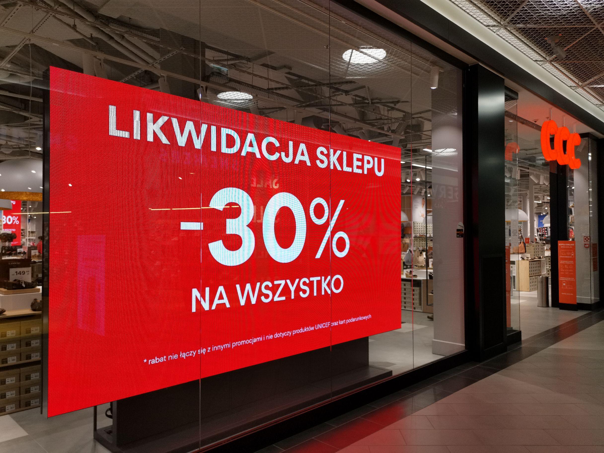 -30% Wszystko CCC Likwidacja sklepu Warszawa/ Atrium Targówek