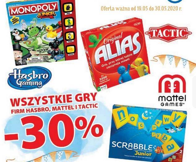 Wszytkie gry Mattel, Hasbro i Tactic -30% w E.Leclerc