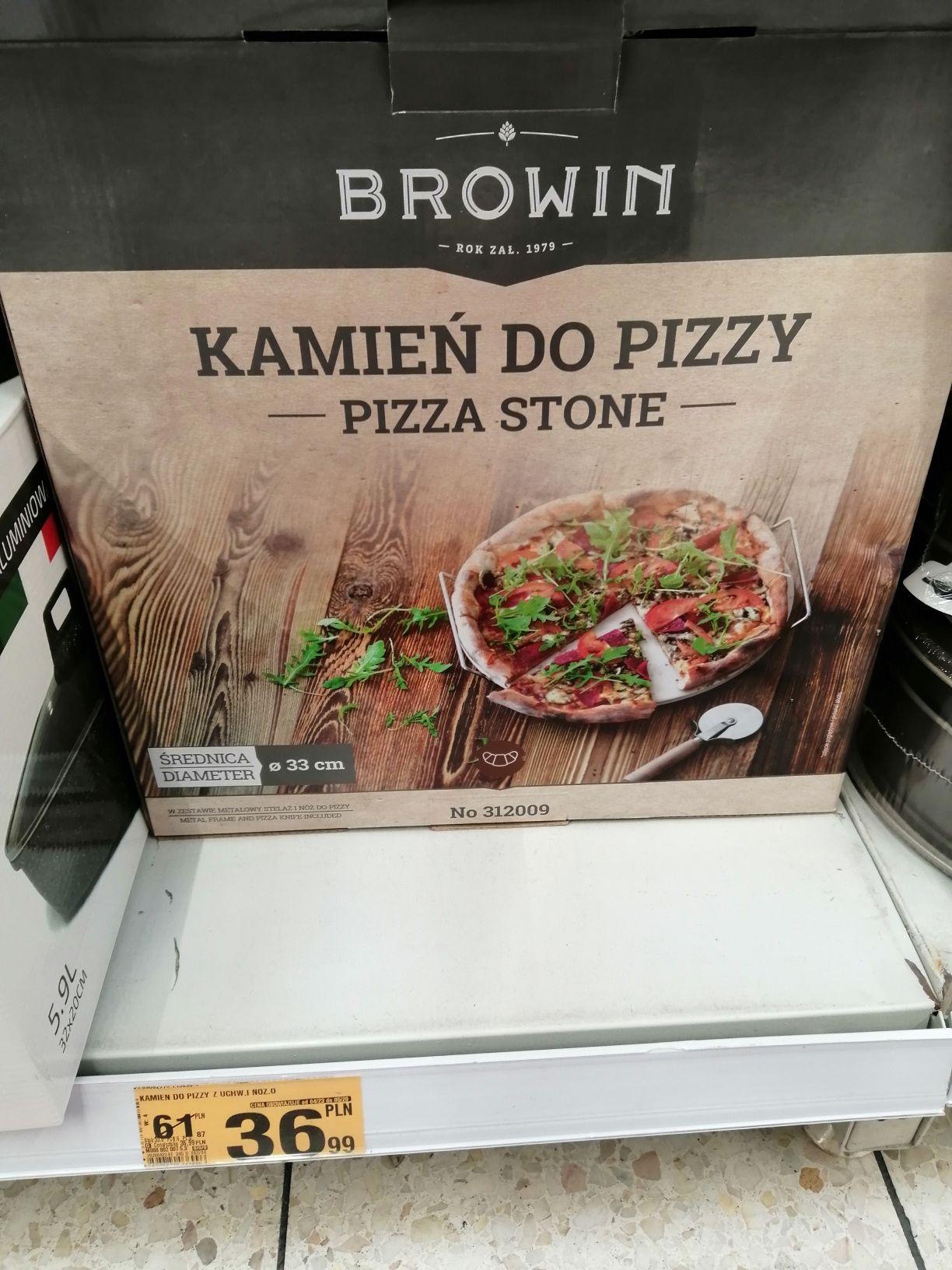 Kamień do pieczenia pizzy z nożem i uchwytem. Toruń Copernicus Auchan
