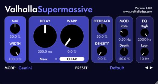 Reverb VST (AU) Valhalla Supermassive