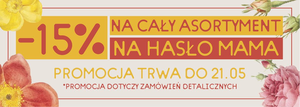 -15% na cały asortyment krukam.pl