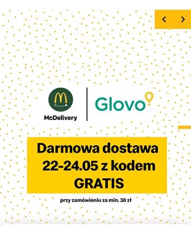 Darmowa dostawa McDonald's w Glovo