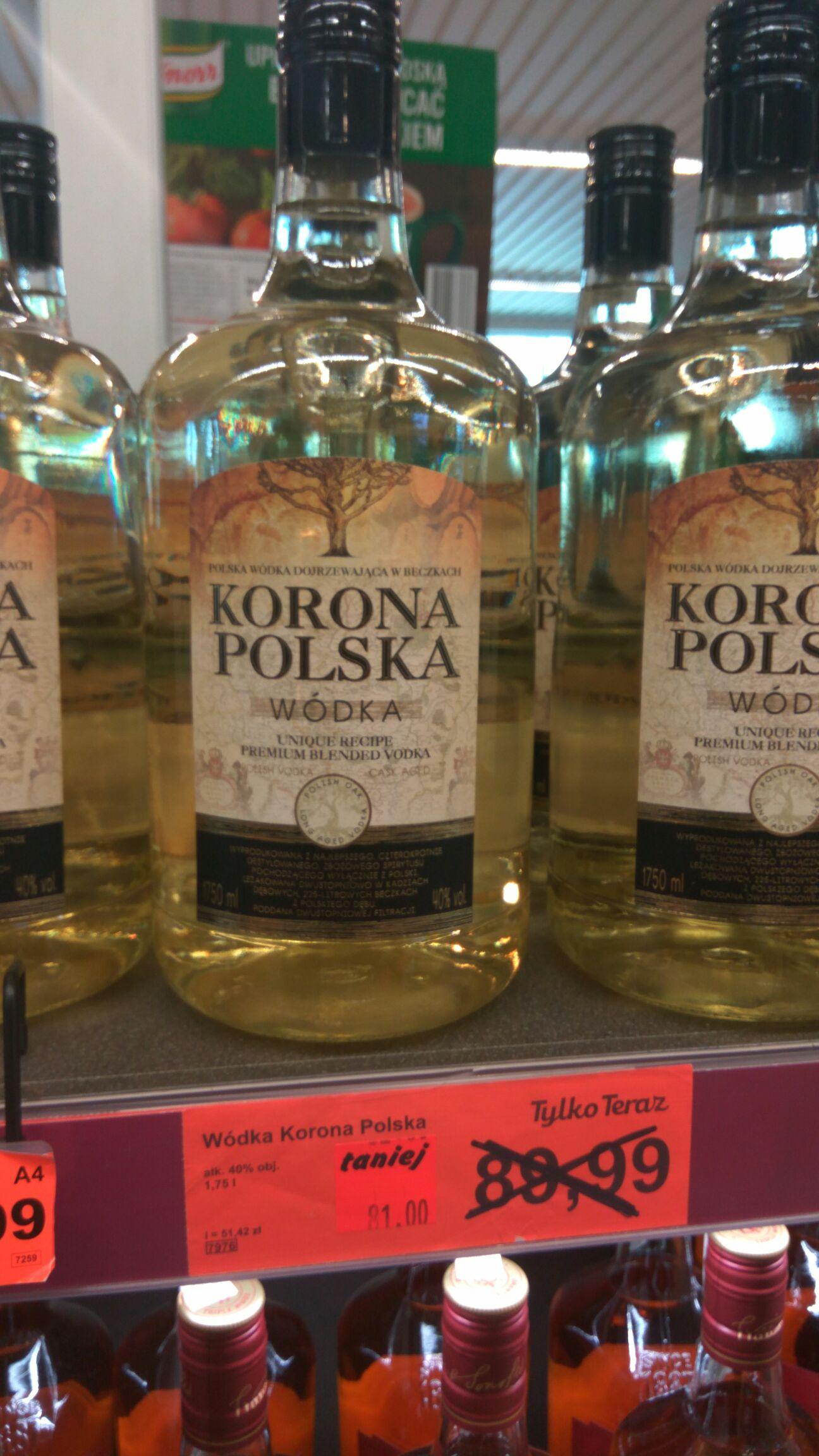Wódka Korona Polska 1,75 l - Aldi