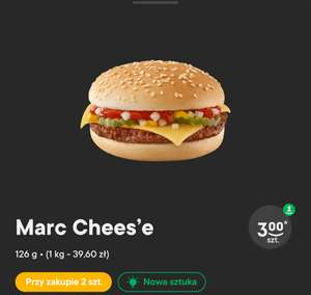 Dwa burgery Marc Chees'e lub Jose Jalapeno w Żabce za 6zł