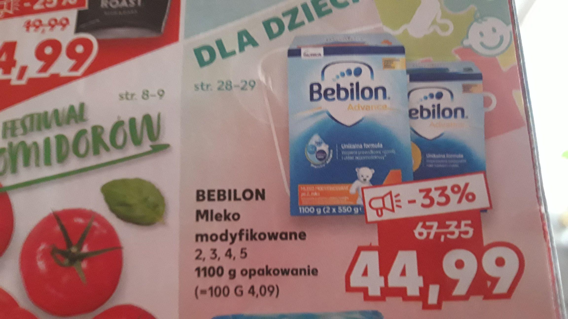 Kaufland BEBILON Advanced Mleko Modyfikowane 2,3,4,5 1100g