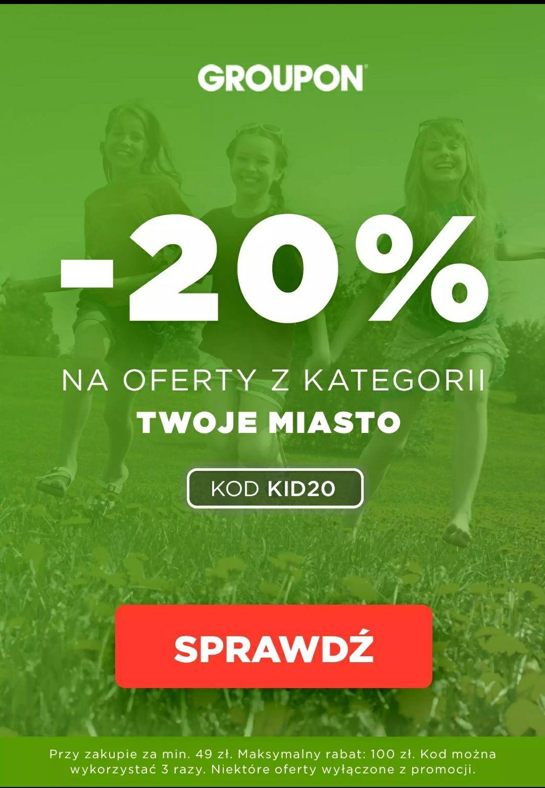 20% taniej na Groupon