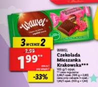 Czekolada Mieszanka krakowska Wawel malinowa