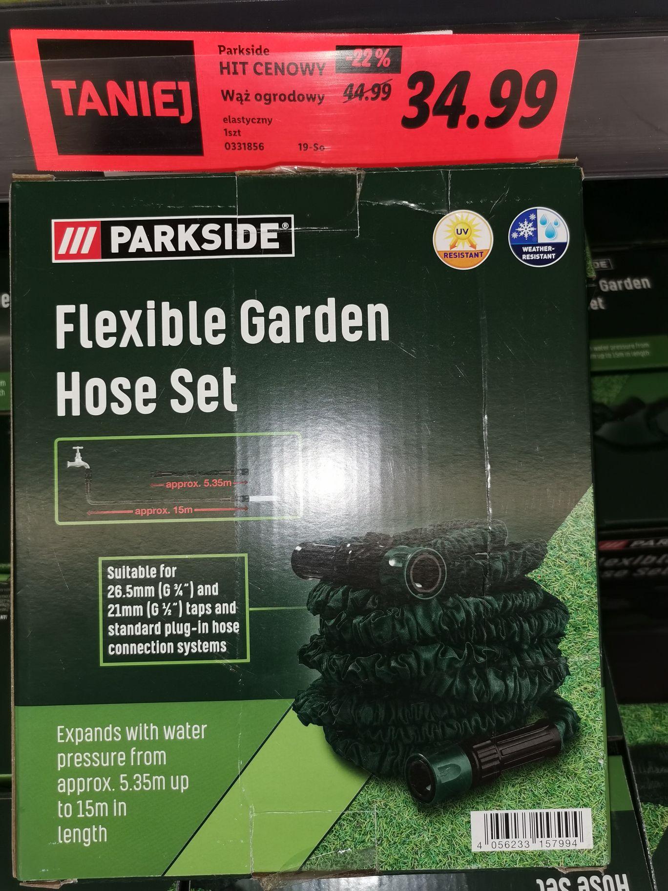 Elastyczny wąż ogrodowy Parkside @Lidl
