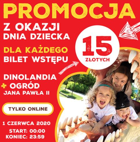Bilet wstępu Dinolandia + Ogród Jana Pawła II