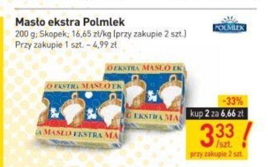 Stokrotka masło extra Polmlek 3.33 zł