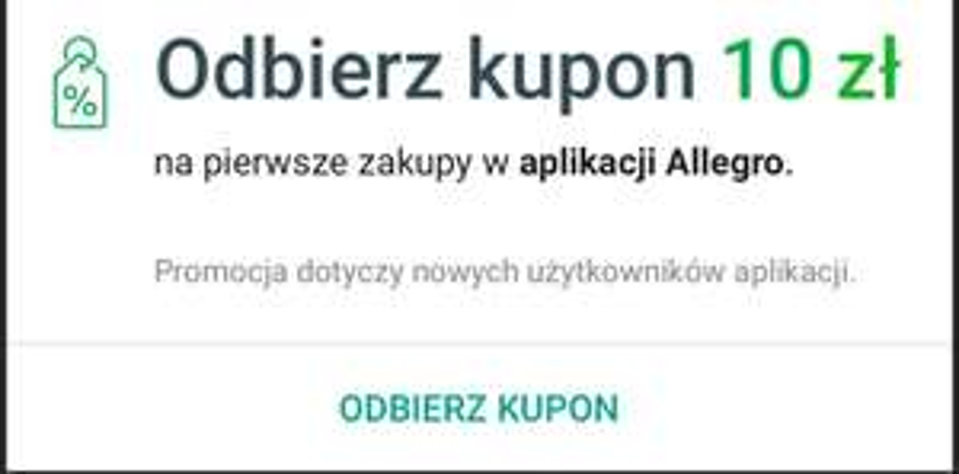 Kod rabatowy Allegro 10 zł dla nowych użytkowników