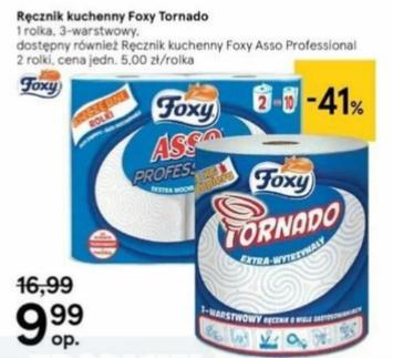 Ręcznik papierowy Foxy TORNADO (340 listków) lub ASSO PRO (2 rolki) Tesco