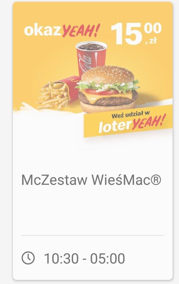 Zestaw WieśMac McDonald's