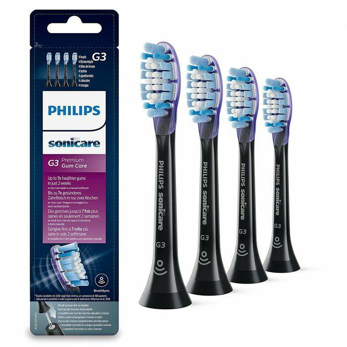 Końcówki do szczoteczki Philips G3 Premium Gum Care Black HX9054/33 - 4 sztuki