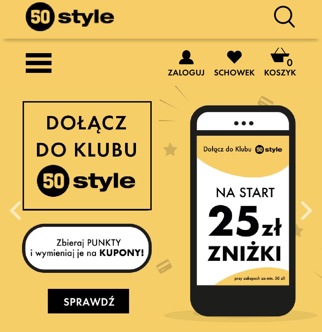50style -25zł na pierwsze zakupy (MWZ 50zł)