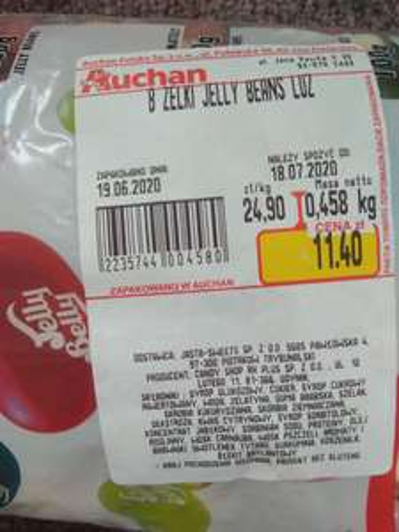 Auchan Fasolki Jelly Belly