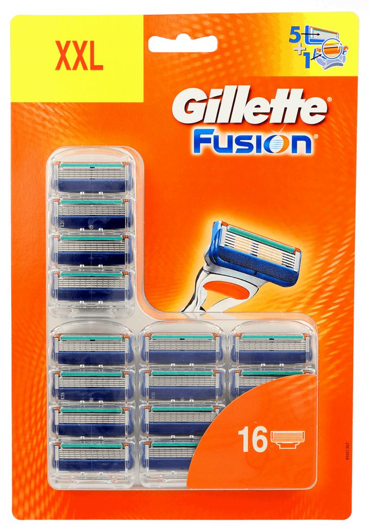 Wkłady Gillette Fusion (16 szt, 3.12 za 1 szt.) - wyprzedaż w Rossmann