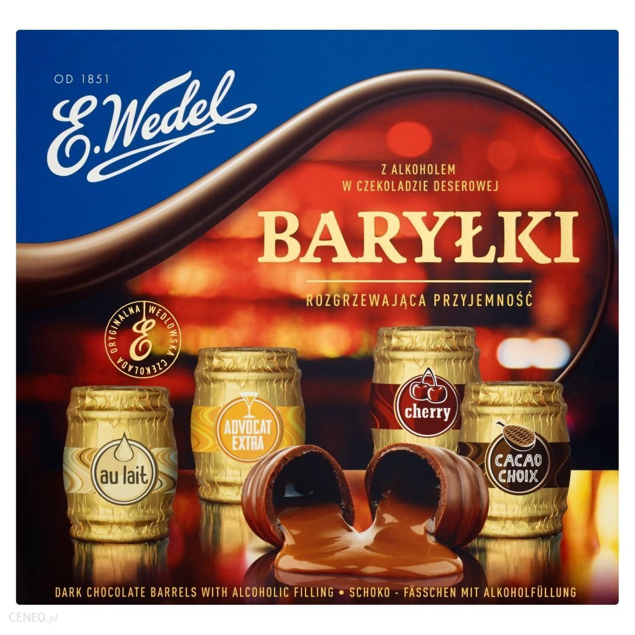 Baryłki Wedel 200g 1+1 Gratis Biedronka. Cena za sztukę 7,50
