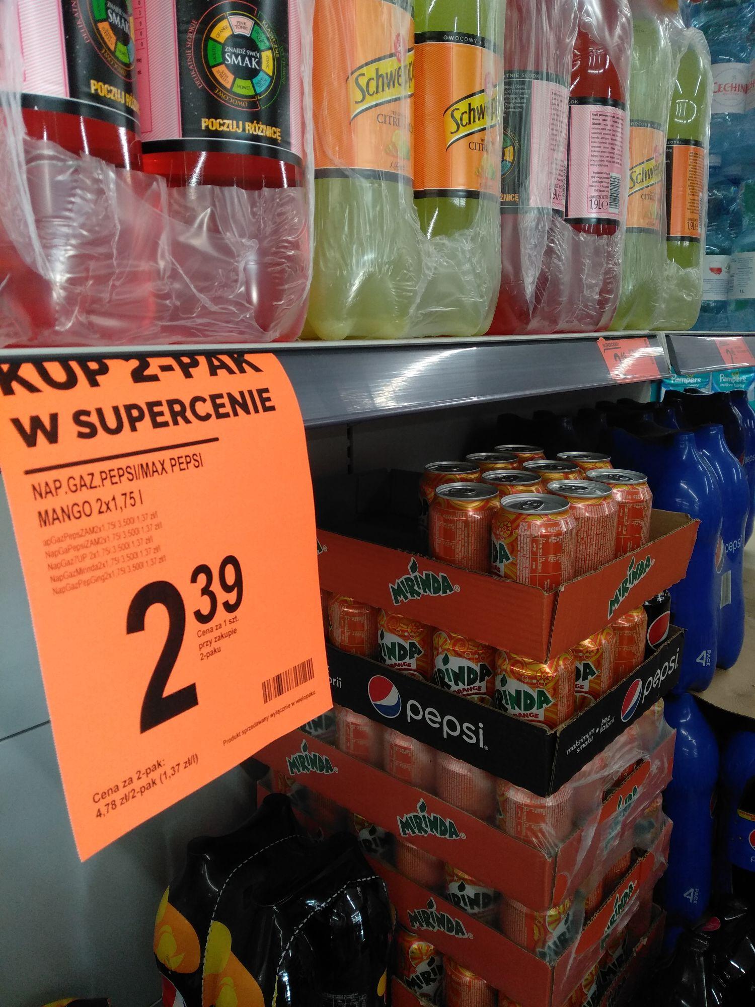 Biedronka, Pepsi 1.75l za 2.39zł w dwu paku