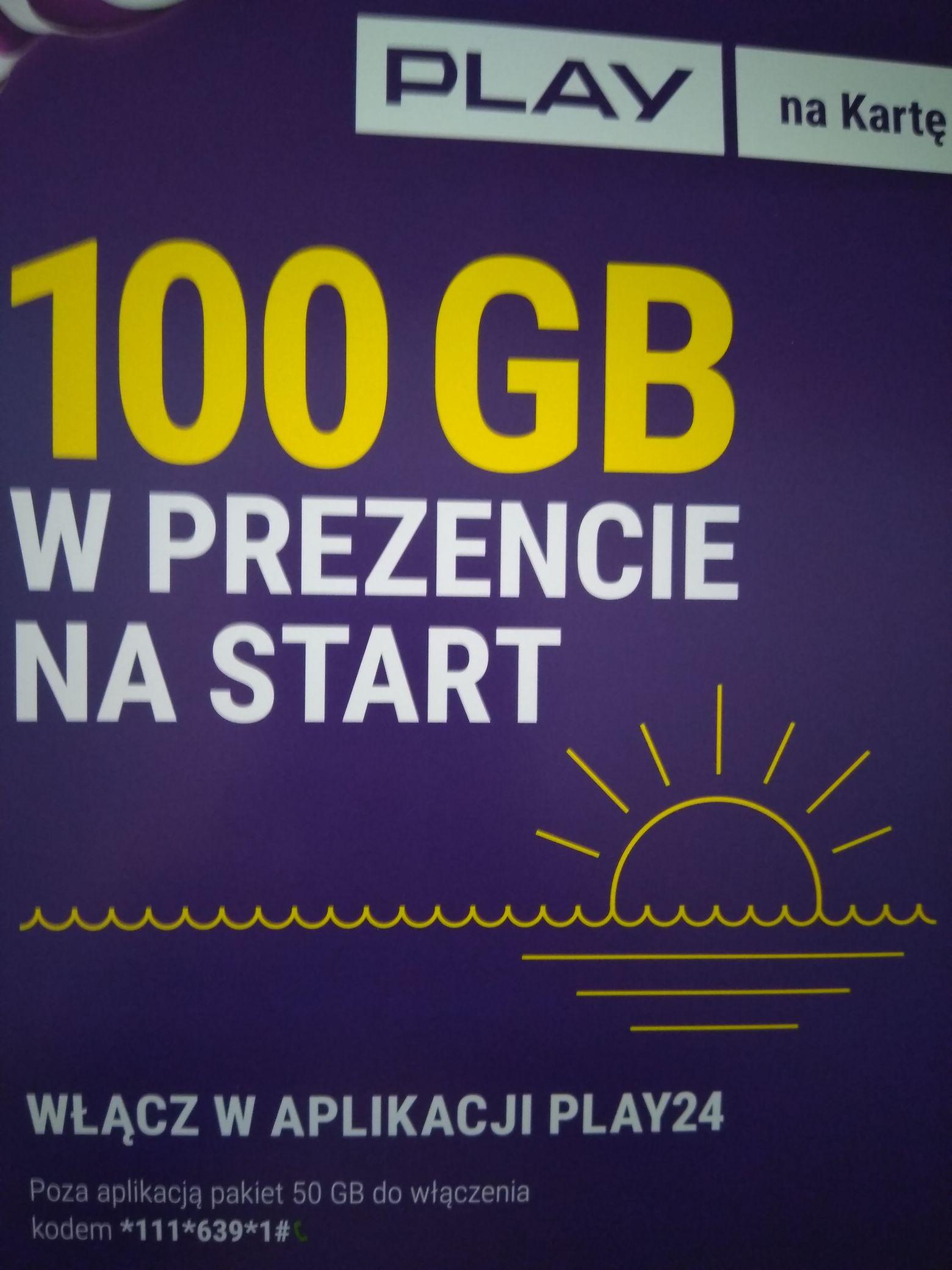 100GB(na wszystko) od PLAY dla nowych prepaid