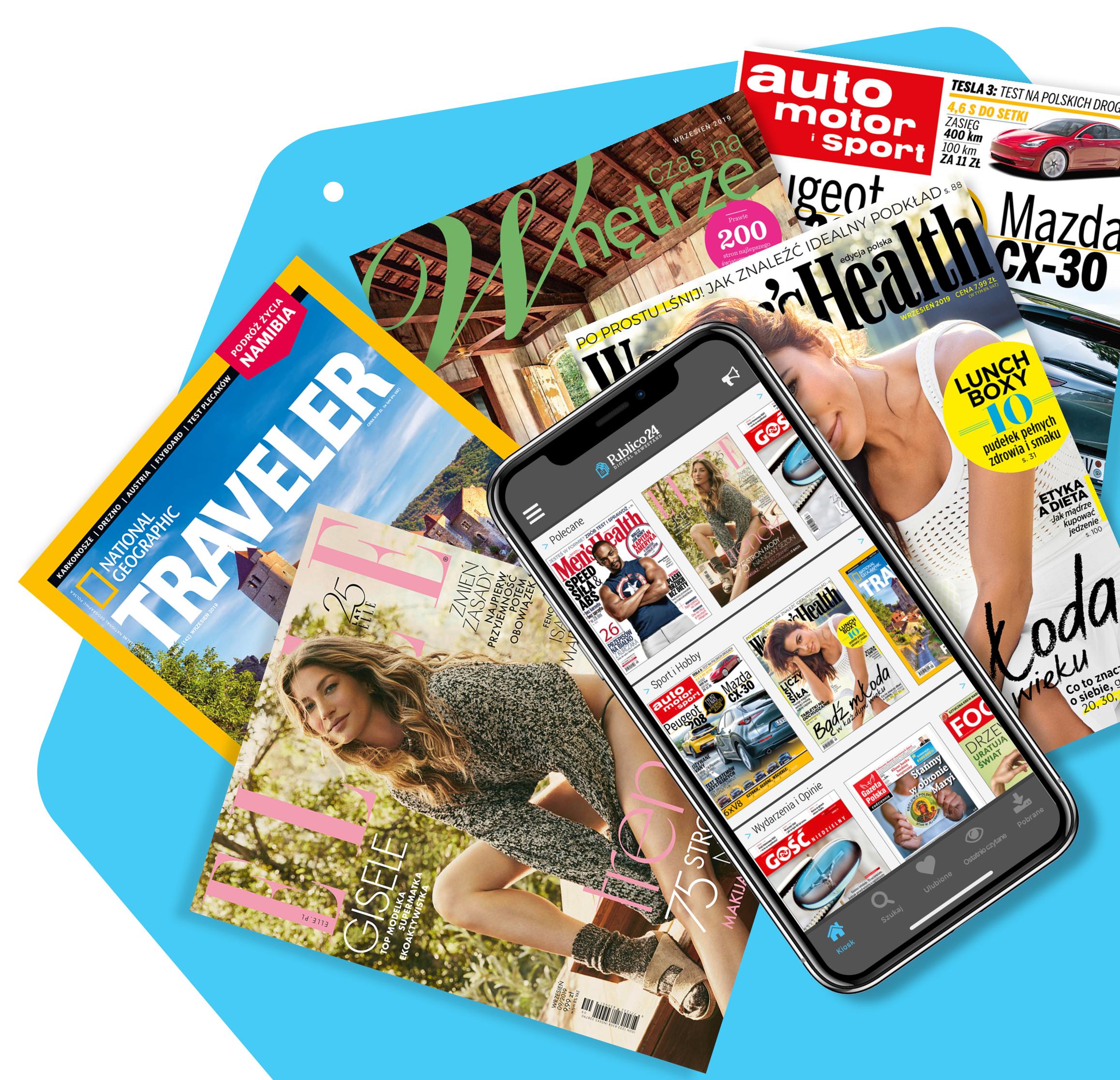 Publico24, darmowe 14 dni + dodatkowe 14 dni. Wirtualny kiosk. Dostęp do czasopism za darmo. #WAKACJE2020