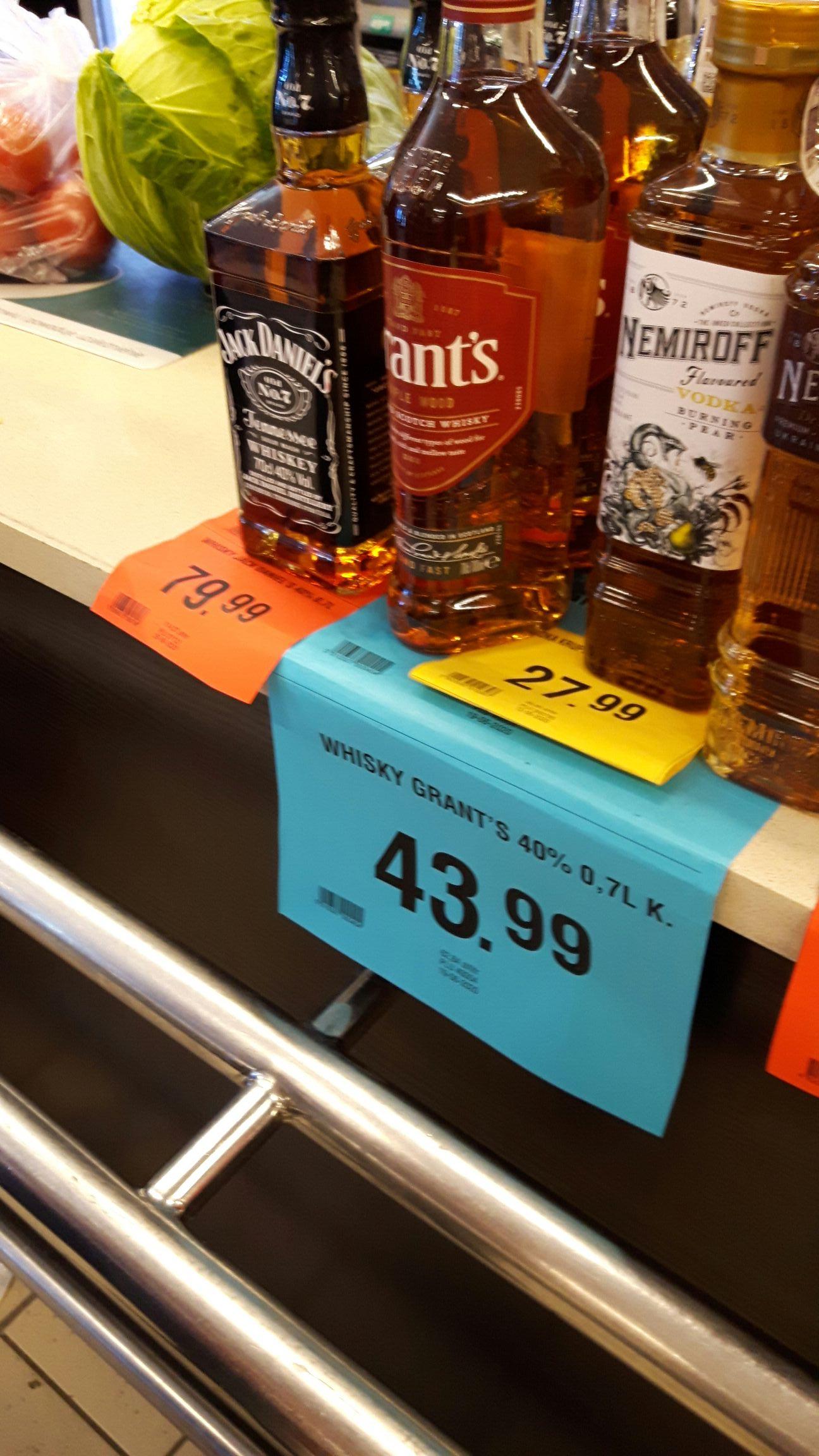 Whisky Grants 0.7l - Gdańsk, sklepy Merkus