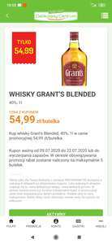 Whisky Grant's blended 1L delikatesy centrum