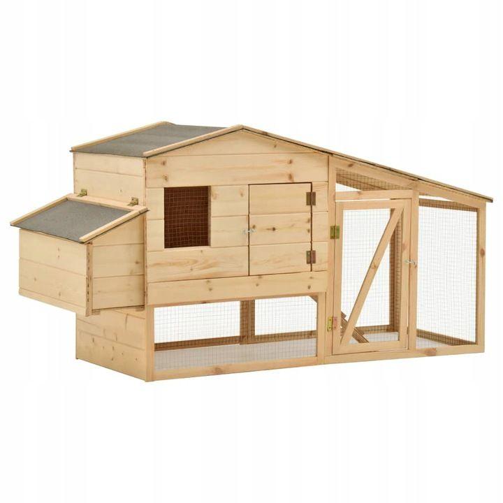 Klatka dla kurcząt, lite drewno sosnowe, 178x67x92 cm, darmowa dostawa i zwrot, możliwe 456zł