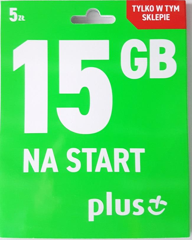Starter za 5zł z 15GB internetu @ na start od Plus'a :) tylko Żabka