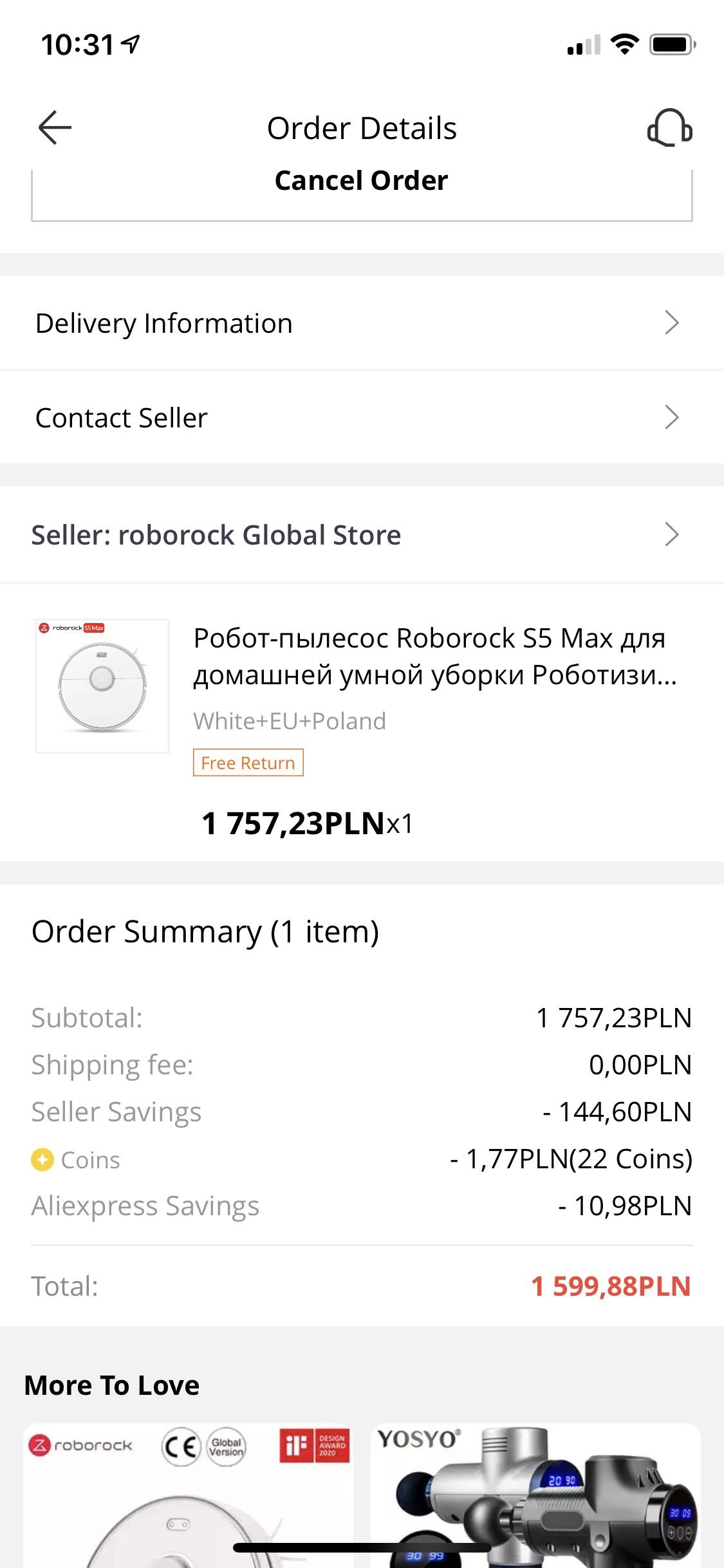 Roborock s5 max z wysyłka z polski i 3 lata gwarancji