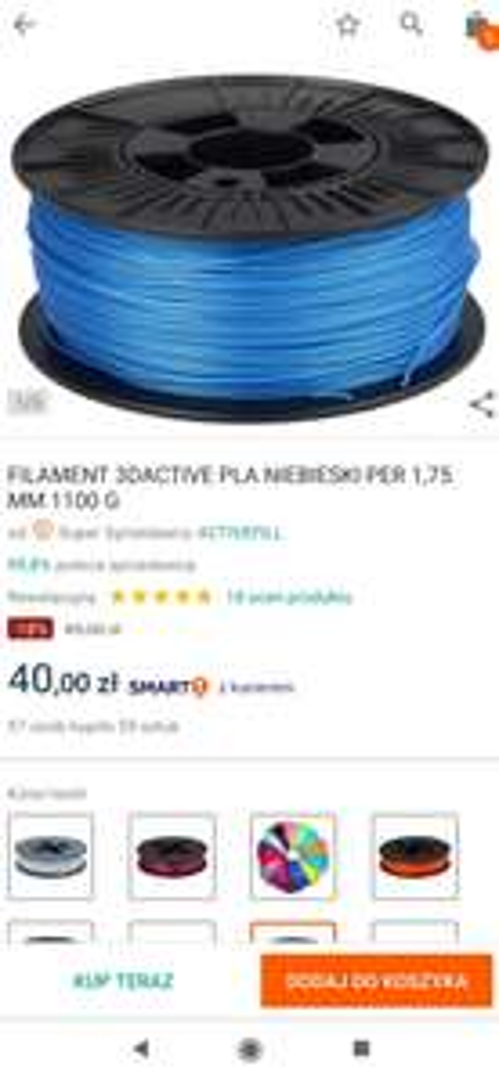 Filament 3D Active PLA niebieski perłowy