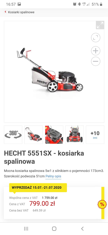 Kosiarka spalonowa HECHT 5551 SX