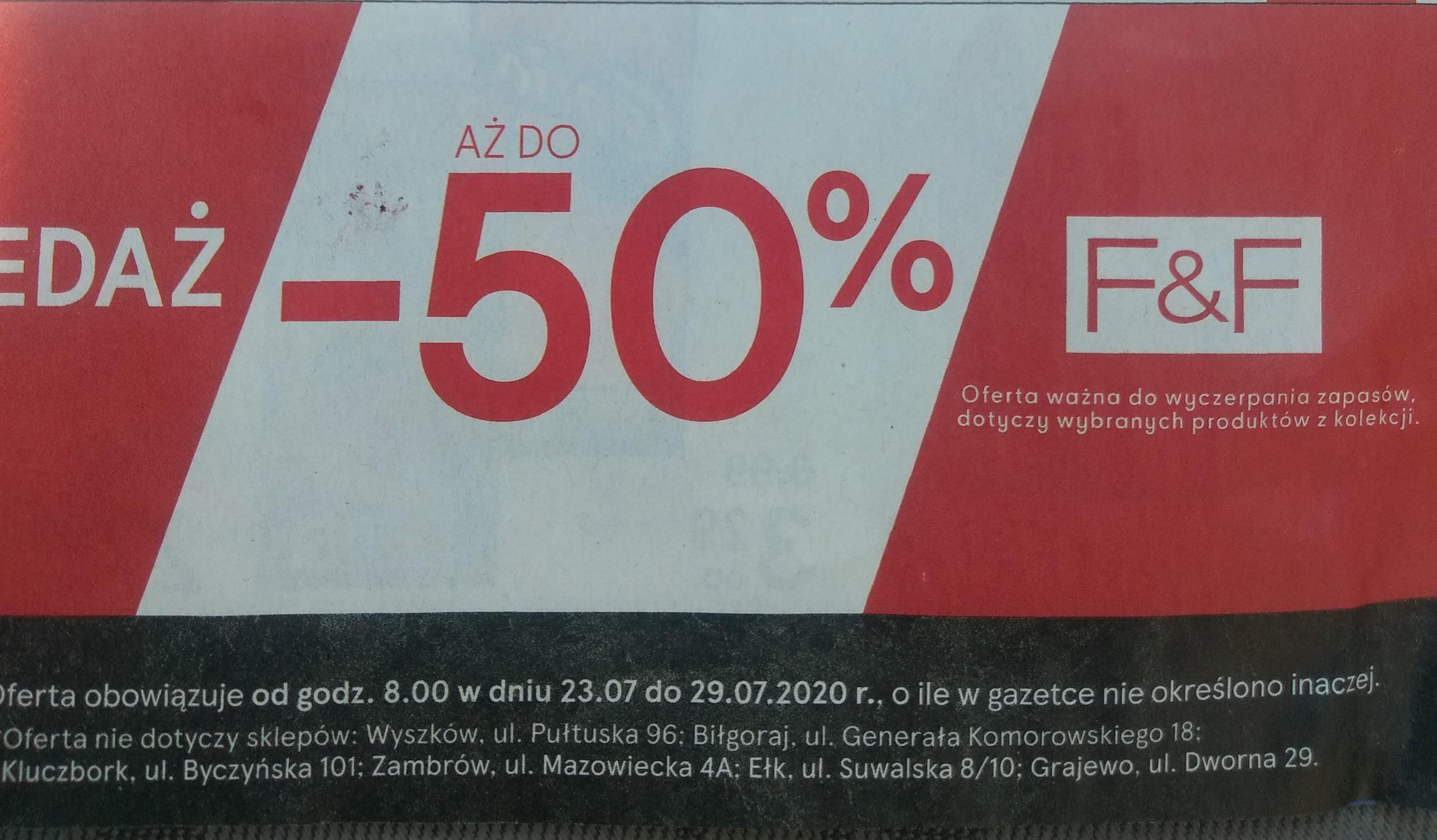 Tesco - wyprzedaż F&F do 50%